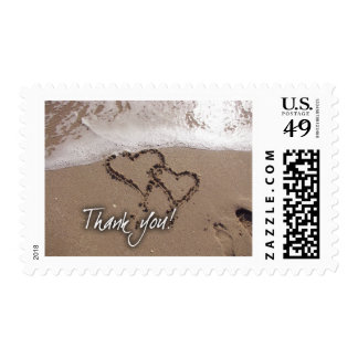 Beach thank you stamps