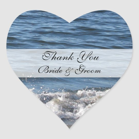 Beach Thank You Stickers with Ocean