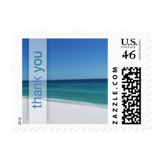 Beach Thank You Wedding Small Postage