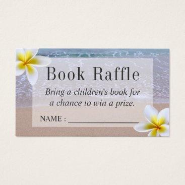 Beach Themed Beach Theme Baby Shower Book Raffle Tickets