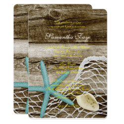 BEACH THEME B'NOT B'NAI BAR BAT MITZVAH INVITATION