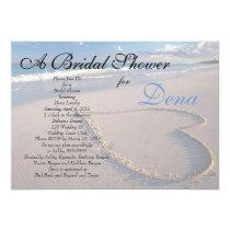 Beach Theme Bridal Shower Invitation
