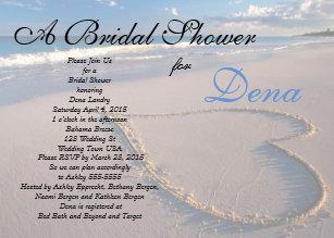 Beach bridal shower invitations zazzle beach theme bridal shower invitation filmwisefo