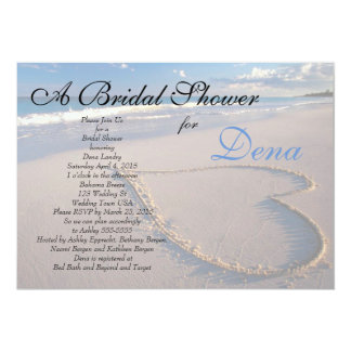 beach theme bridal shower invitation