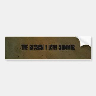 Beach theme bumper sticker