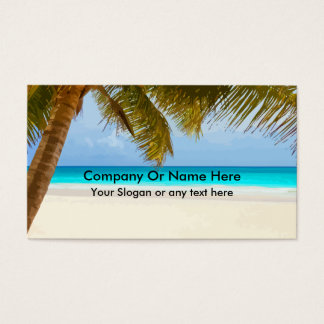 Beach Theme Business Cards