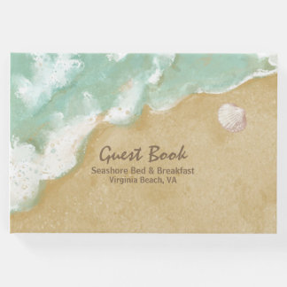 Beach Theme Business Guest Book