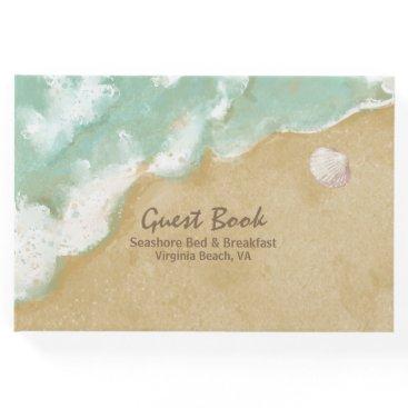Beach Themed Beach Theme Business Guest Book