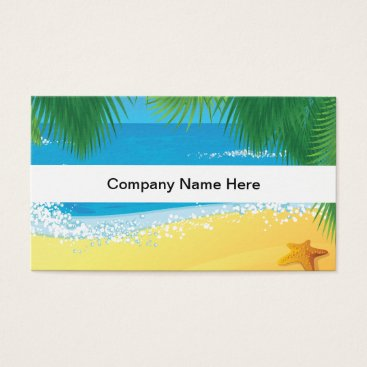 Beach Themed Beach Theme Businesscards Business Card
