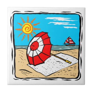Beach Theme Ceramic Tile