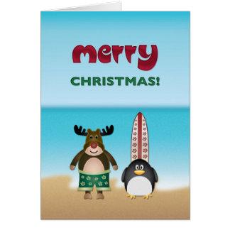 Beach Theme Christmas Card