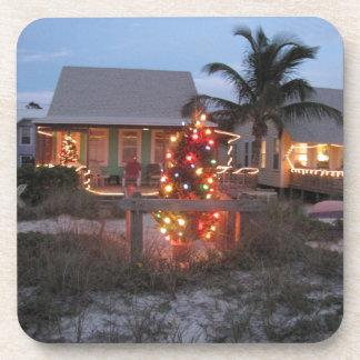 Beach theme Christmas Coaster