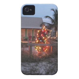Beach theme Christmas iPhone 4 Case-Mate Case