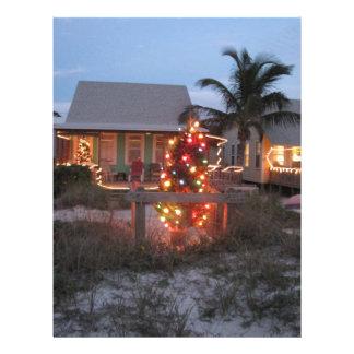 Beach theme Christmas Letterhead