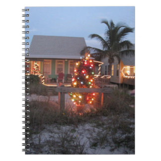 Beach theme Christmas Notebook