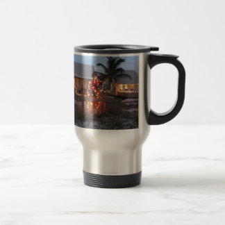Beach theme Christmas Travel Mug