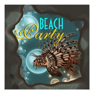 Beach theme elegant party invites