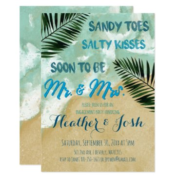 Beach Theme Engagement Party Invitation