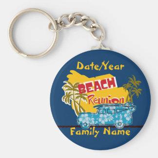 Beach Theme Family Reunion Personalized Keychain