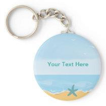 Beach Theme Keychain