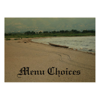 Beach Theme Menu Selection Card Large Business Card