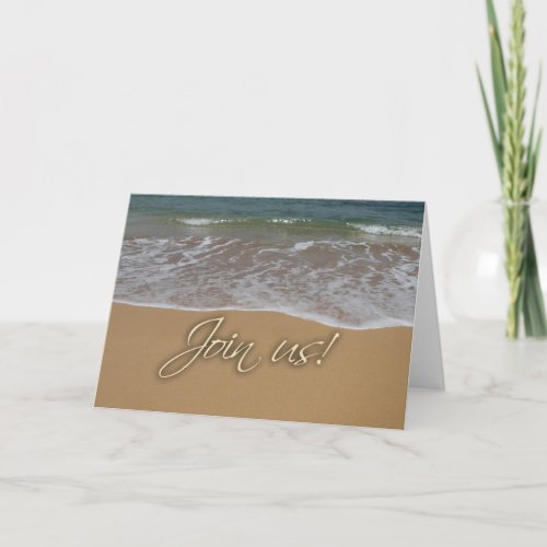 Beach theme party invitation zazzle_card