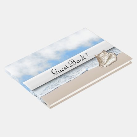 Beach Theme Personalized Guest Book