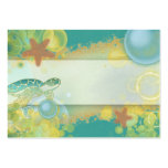 Beach theme placement cards turtle starfish business cards