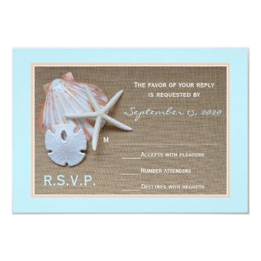 henishouseofpaper Beach Theme RSVP Wedding Invitation