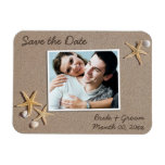 Beach Theme Save the Date Photo Magnets