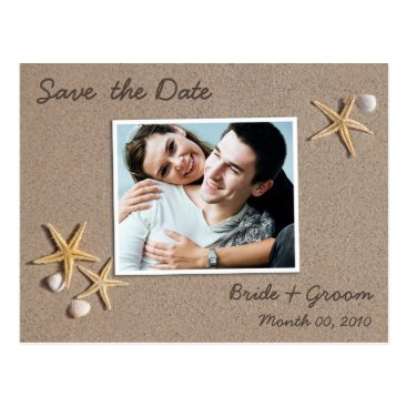 Beach Themed Beach Theme Save the Date Photo Postcards