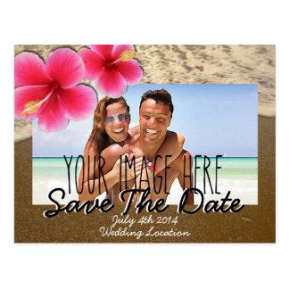 Beach Theme Save The Date Post Card