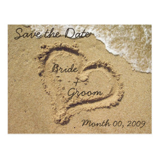 Beach Theme Save the Date postcards