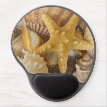 Beach Theme Seashells And Starfish Gel Mouse Pad