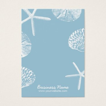 Beach Themed Beach Theme Seashells Mint Blue Earring Display Business Card