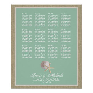 Beach Theme Seat Chart Foam Green