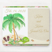 Beach Theme Special Date or Wedding Date Mouse Pad