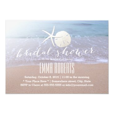 myinvitation Beach Theme Starfish & Sand Dollar Bridal Shower Card