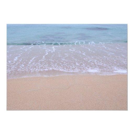 Beach Theme Starfish & Sand Dollar Bridal Shower Custom Invite (back side)
