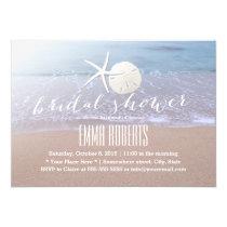 Beach Theme Starfish & Sand Dollar Bridal Shower Invitation