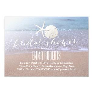 Beach bridal shower invitations announcements zazzle beach theme starfish sand dollar bridal shower invitation filmwisefo