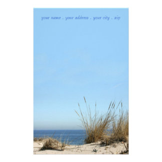 Beach Theme Stationary Custom Stationery