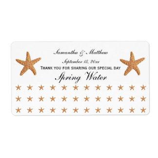 Beach Theme Sugar Starfish Pattern Water Labe Label