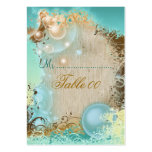Beach theme table placement cards business card template
