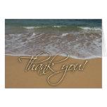 Beach theme Thank You Greeting Card