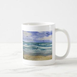 Beach Theme Thank You Mugs