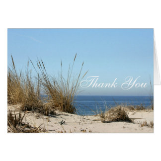 Beach Theme Thank you Notes Greeting Card