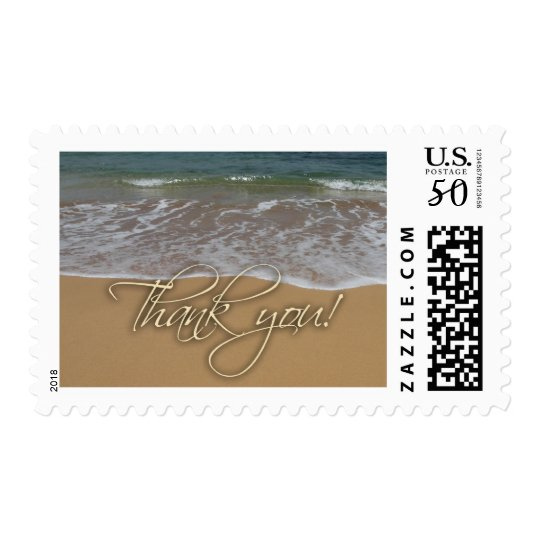 Beach theme Thank You Postage
