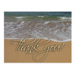 Beach theme Thank You Postcard