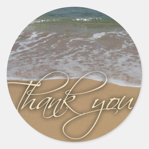 Beach theme Thank You Stickers